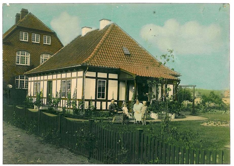 Her boede Arkitekt Julius Molls i Hammel 1918.