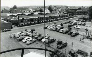 P-pladser ved Tema Centeret i Hammel, 1973