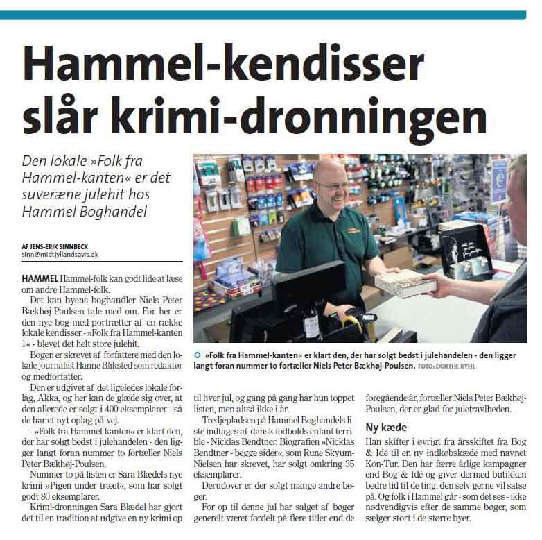 Hammel Portætbog sælger bedre end ny krimi bog